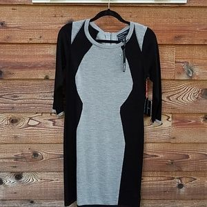 Cynthia Rowley sweater dress blk/grey medium nwt